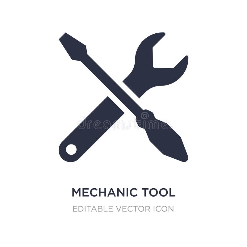 icono de la herramienta del mecánico en el fondo blanco Ejemplo simple del elemento del concepto de UI ilustración del vector