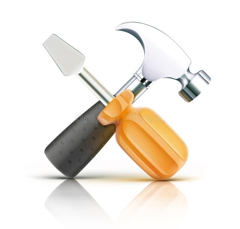 Icono de la herramienta del trabajo stock de ilustración