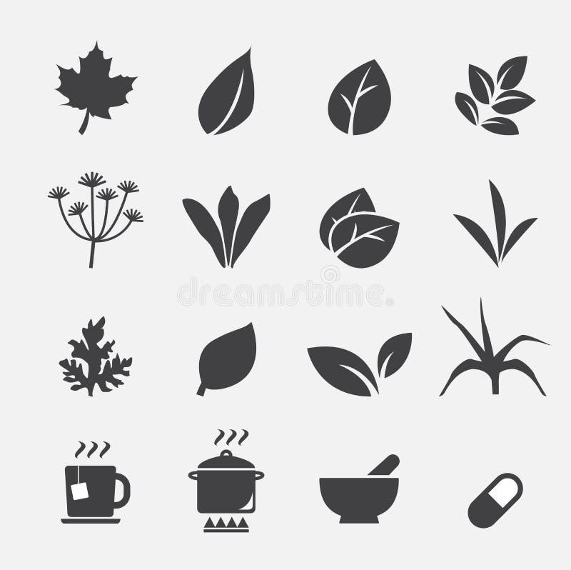 Icono de la hierba ilustración del vector