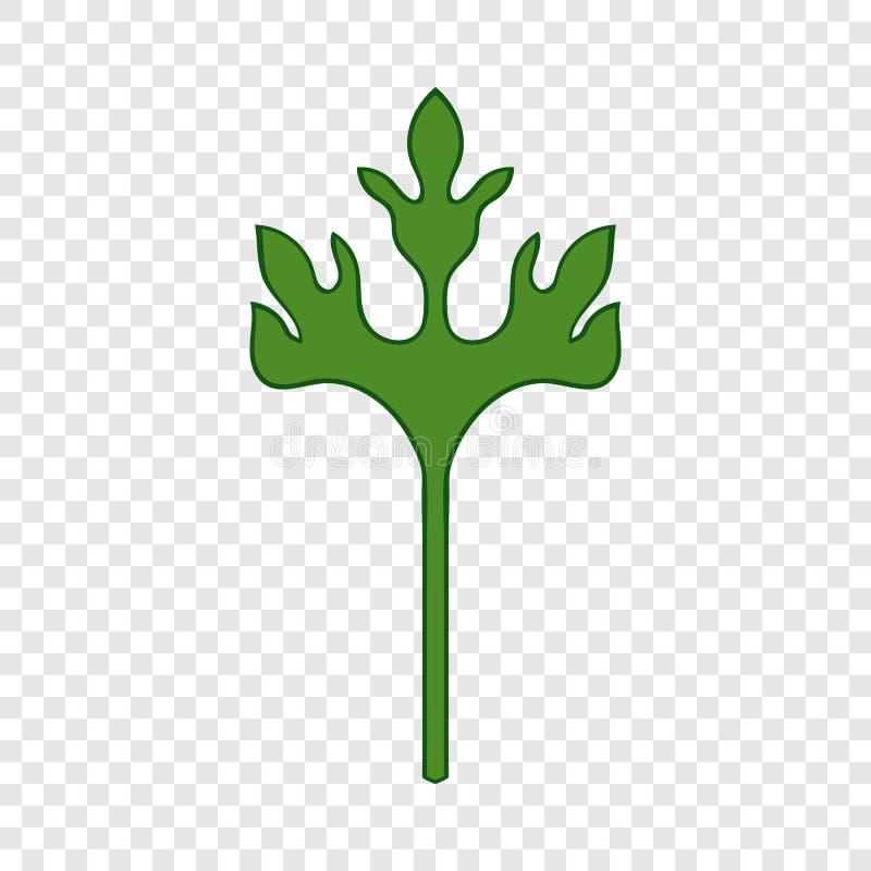 Icono de la hierba del coriandro, estilo de la historieta ilustración del vector