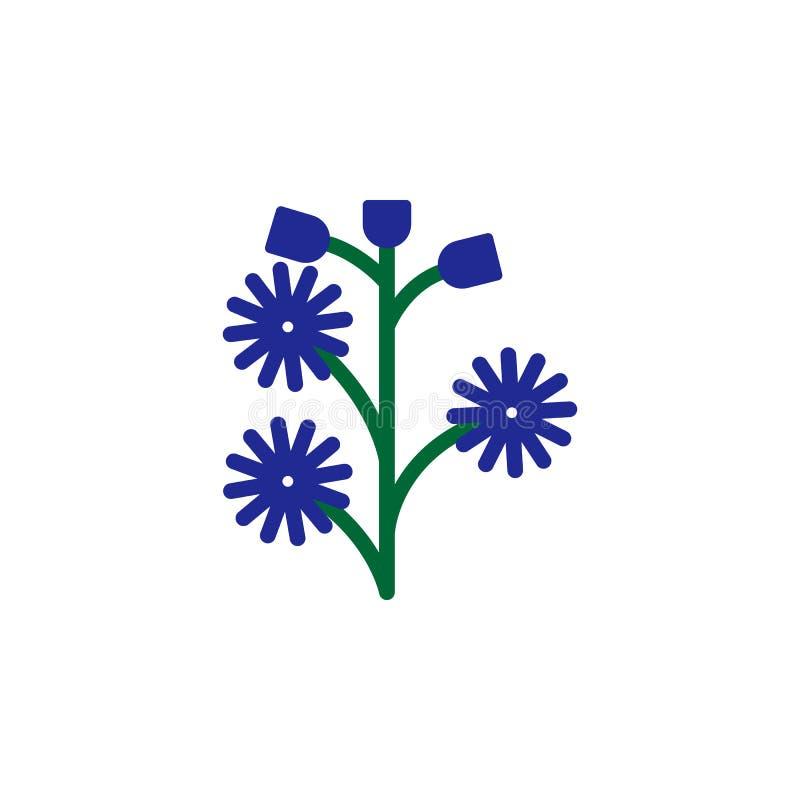 Icono de la hierba Elemento del icono de la hierba para los apps móviles del concepto y de la web El icono detallado de la hierba stock de ilustración