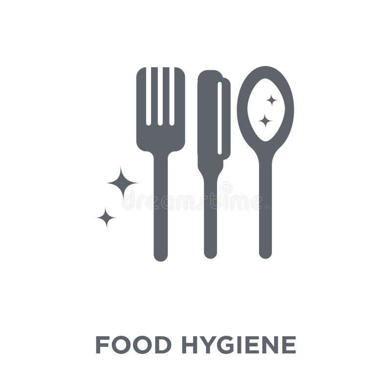 icono de la higiene alimenticia de la colección de la higiene ilustración del vector