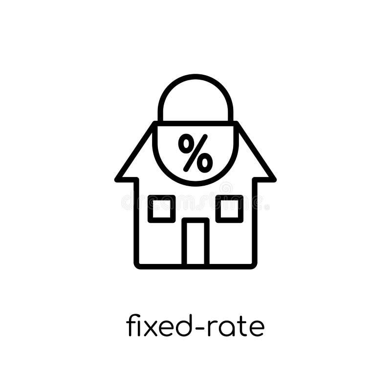 Icono de la hipoteca de tasa fija  stock de ilustración