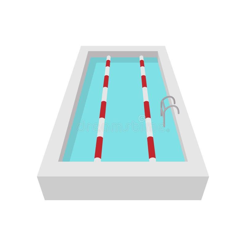 Icono de la historieta de la piscina del deporte libre illustration