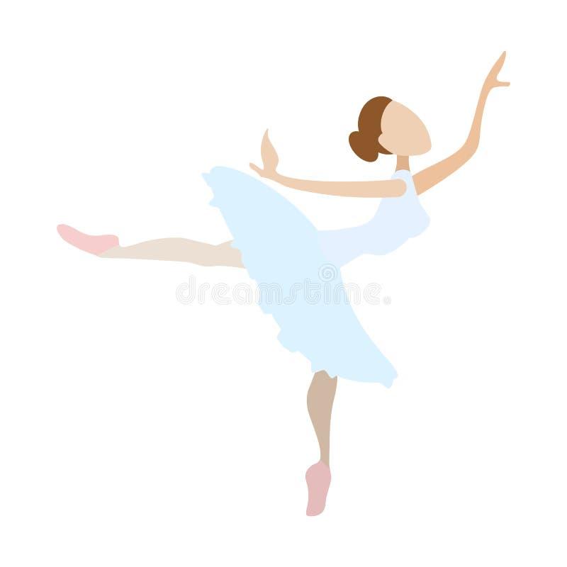 Icono De La Historieta Del Baile De La Muchacha De La Bailarina ...