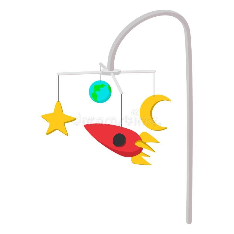 Icono de la historieta del carrusel de la cama stock de ilustración