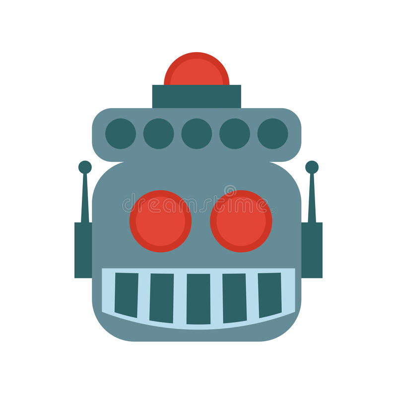 Icono de la historieta del robot Diseño de máquina Gráfico de vector ilustración del vector