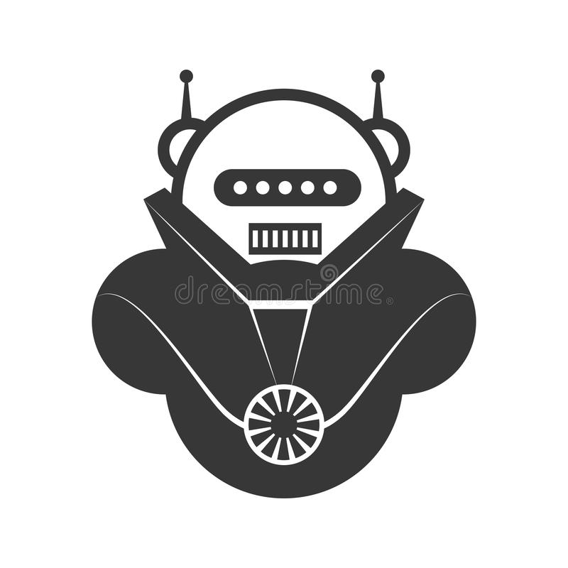 Icono de la historieta del robot Diseño de máquina Gráfico de vector stock de ilustración