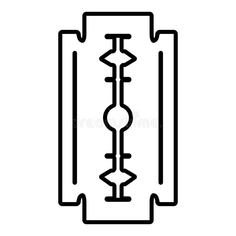 Icono de la hoja de afeitar, estilo del esquema libre illustration