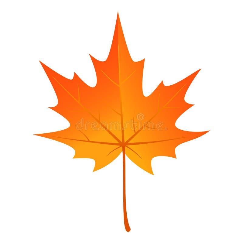 Icono de la hoja de arce del otoño, estilo plano ilustración del vector