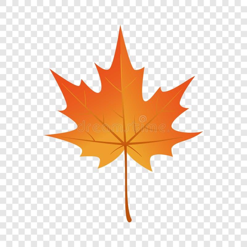 Icono de la hoja de arce del otoño, estilo plano stock de ilustración