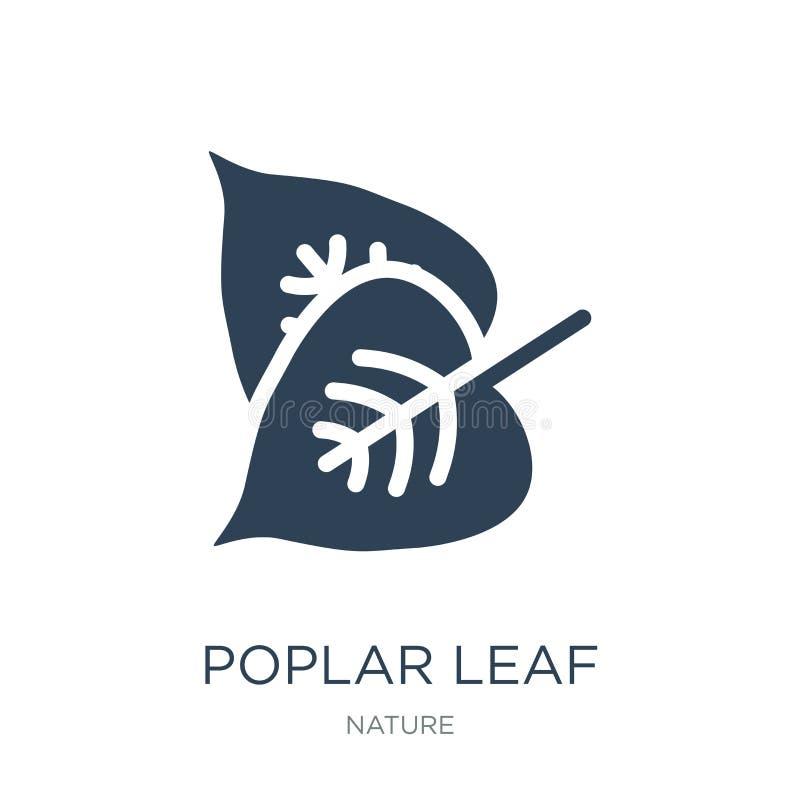 icono de la hoja del álamo en estilo de moda del diseño icono de la hoja del álamo aislado en el fondo blanco icono del vector de stock de ilustración