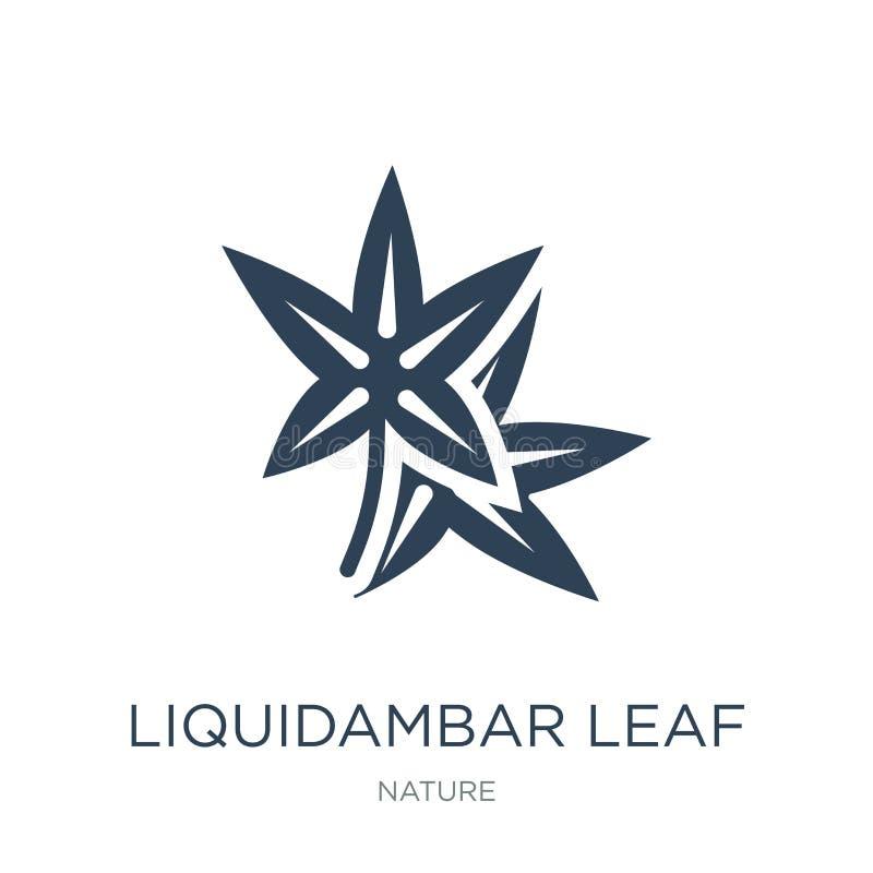 icono de la hoja del liquidámbar en estilo de moda del diseño icono de la hoja del liquidámbar aislado en el fondo blanco icono d ilustración del vector