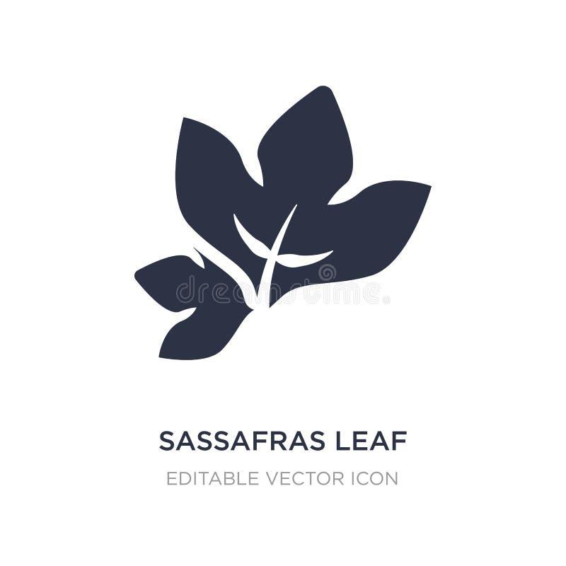 icono de la hoja del sasafrás en el fondo blanco Ejemplo simple del elemento del concepto de la naturaleza stock de ilustración