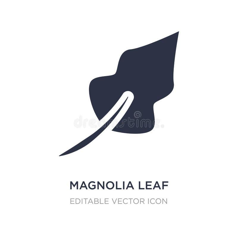 icono de la hoja de la magnolia en el fondo blanco Ejemplo simple del elemento del concepto de la naturaleza stock de ilustración