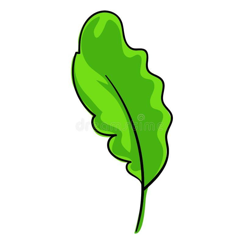Icono de la hoja de Salat, estilo de la historieta libre illustration