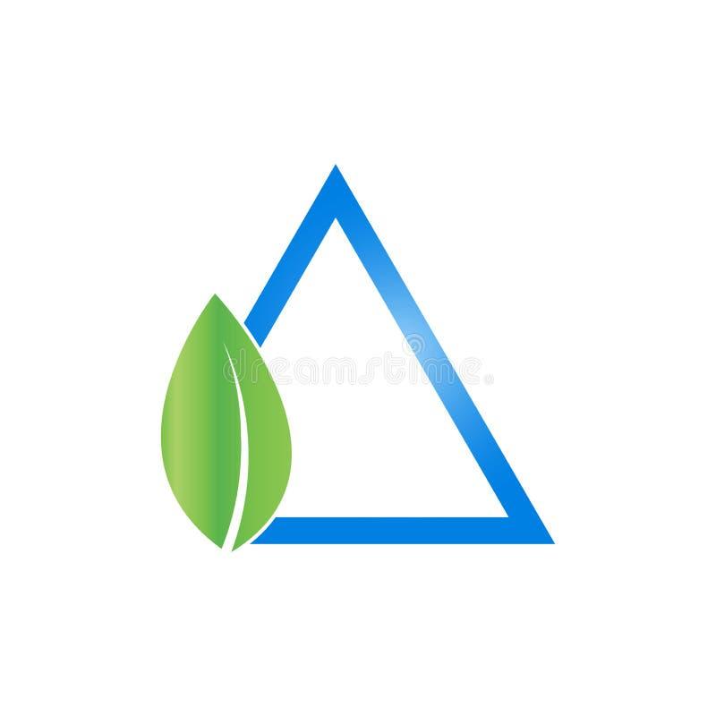 Icono de la hoja y del triángulo Plantilla del diseño del logotipo libre illustration