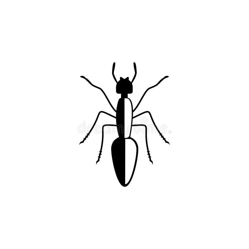 Icono de la hormiga Elementos del icono del insecto Diseño gráfico de la calidad superior Muestras e icono para los sitios web, d libre illustration