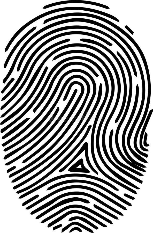 Icono de la huella dactilar en el fondo blanco ilustración del vector