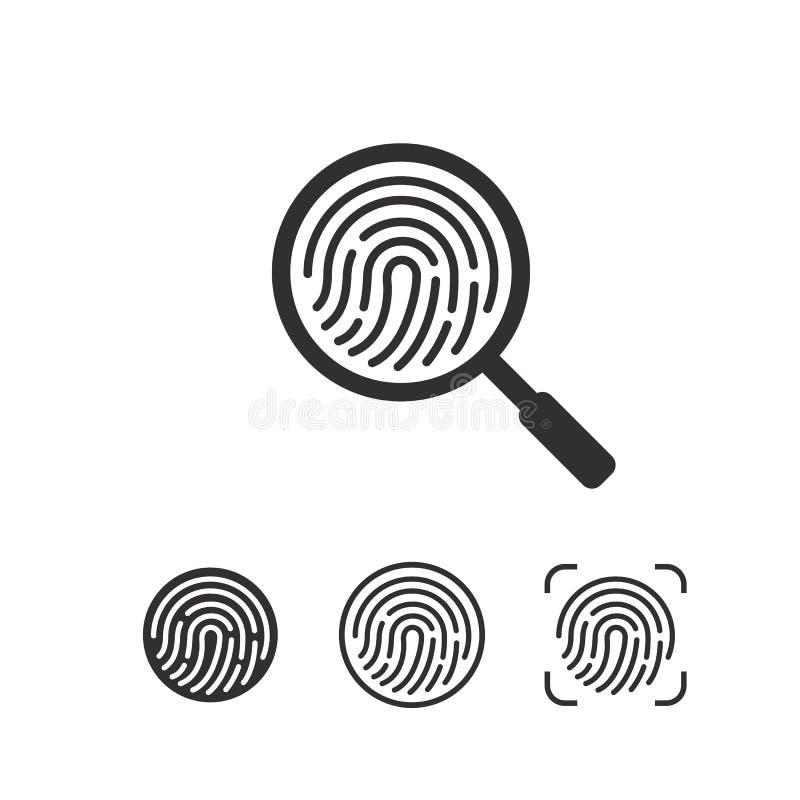 Icono de la huella dactilar Símbolo para el gráfico y el diseño web Ejemplo plano del vector ilustración del vector