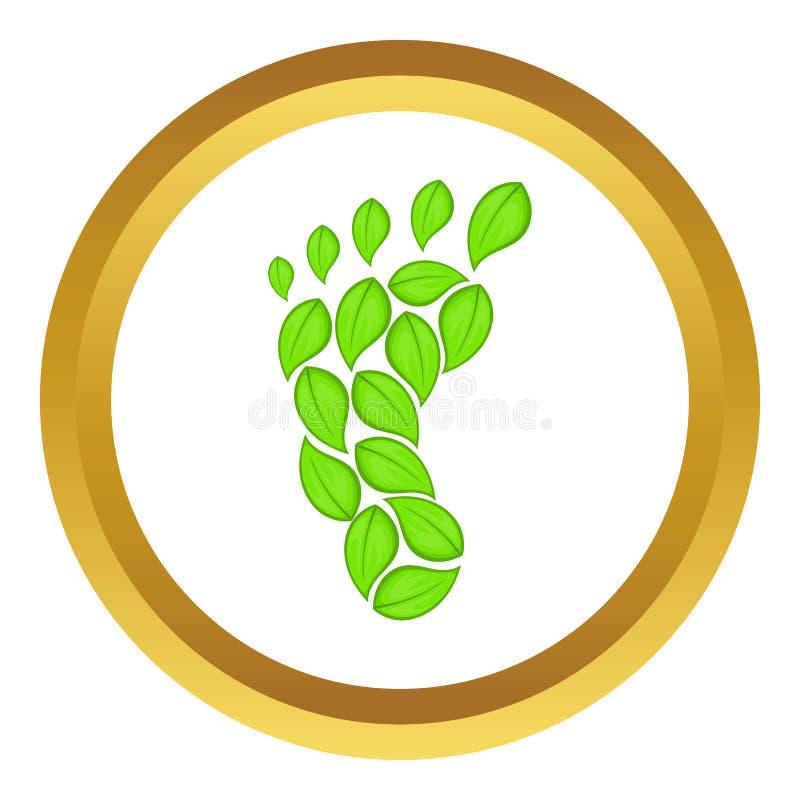 Icono de la huella de Eco ilustración del vector