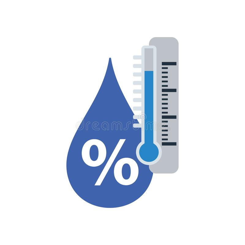 Icono de la humedad stock de ilustración