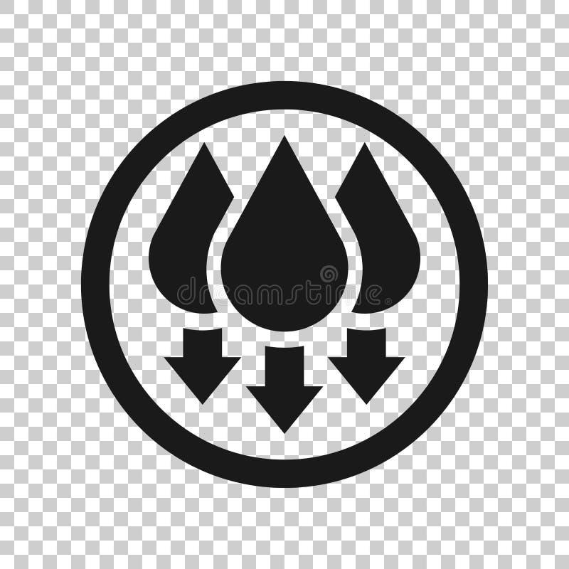Icono de la humedad en estilo transparente Ejemplo del vector del clima en fondo aislado Concepto del negocio del pron?stico de l ilustración del vector