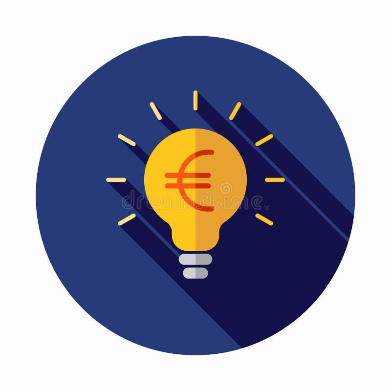 Icono de la idea del dinero Icono euro libre illustration
