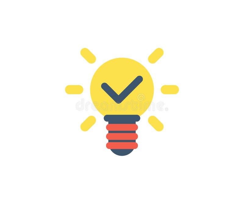 Icono de la idea Ejemplo del vector en estilo minimalista plano ilustración del vector