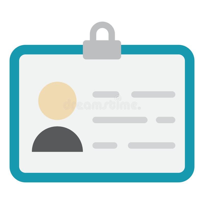 Icono de la identidad, identificación e identificación planos libre illustration