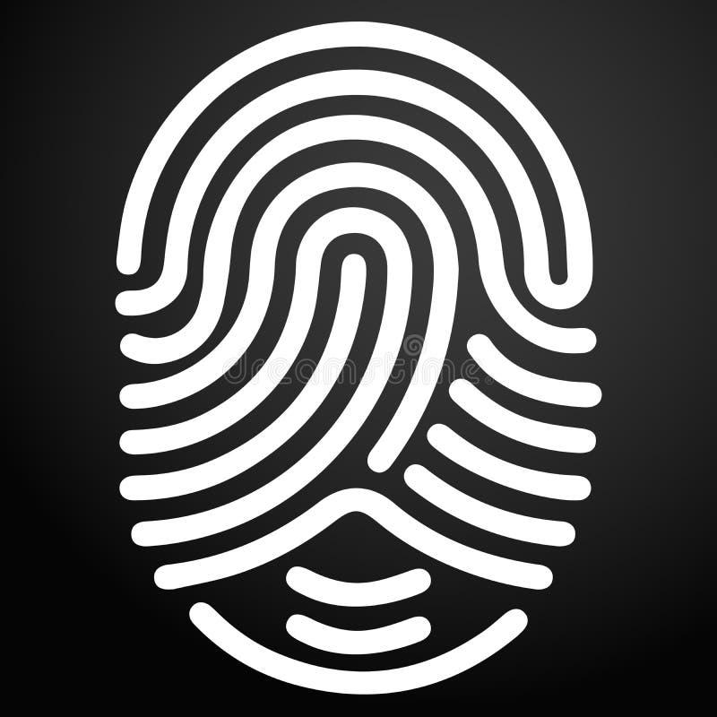 Icono de la identificación del finger en el fondo oscuro para el gráfico y el diseño web libre illustration