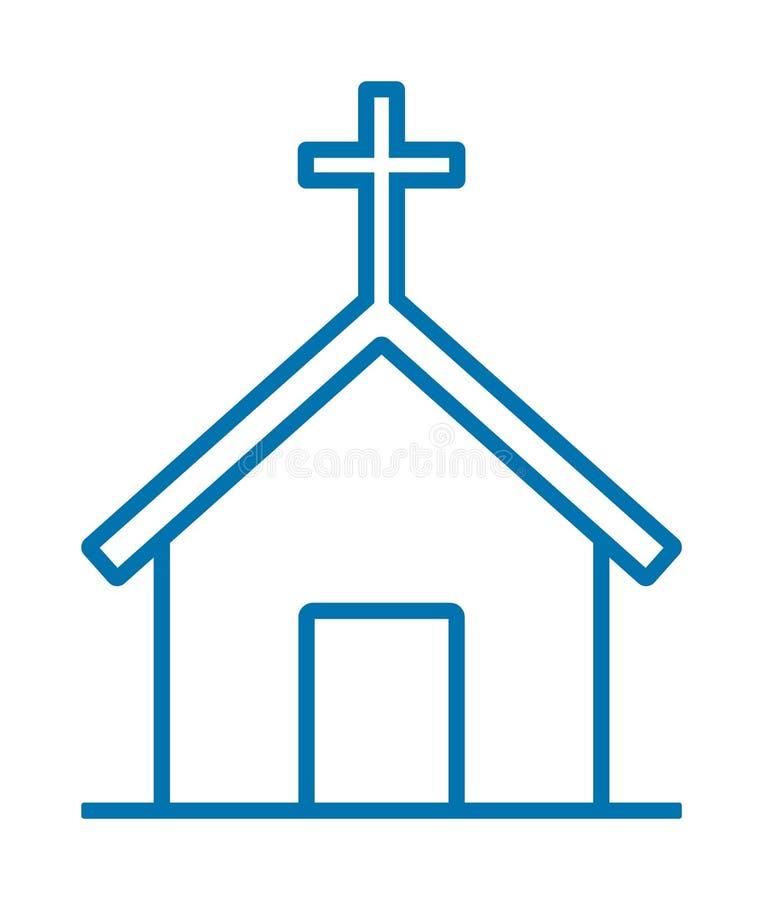 Icono de la iglesia stock de ilustración