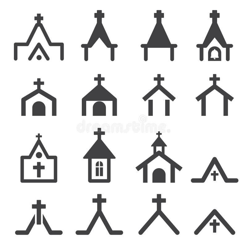 Icono de la iglesia ilustración del vector