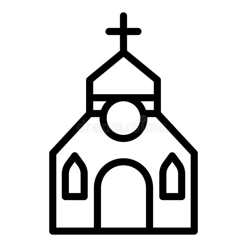 Icono de la iglesia del sacerdote, estilo del esquema stock de ilustración