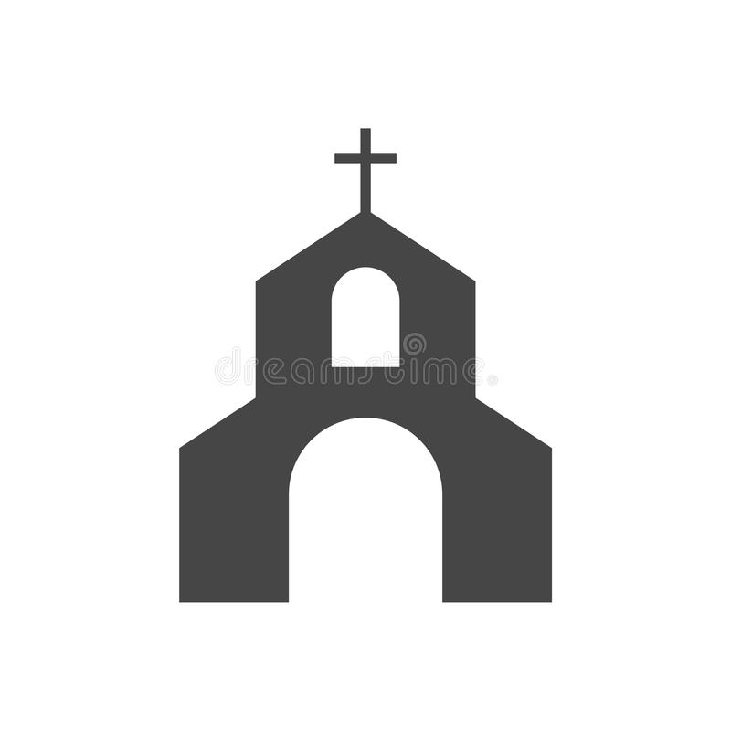 Icono de la iglesia del vector stock de ilustración