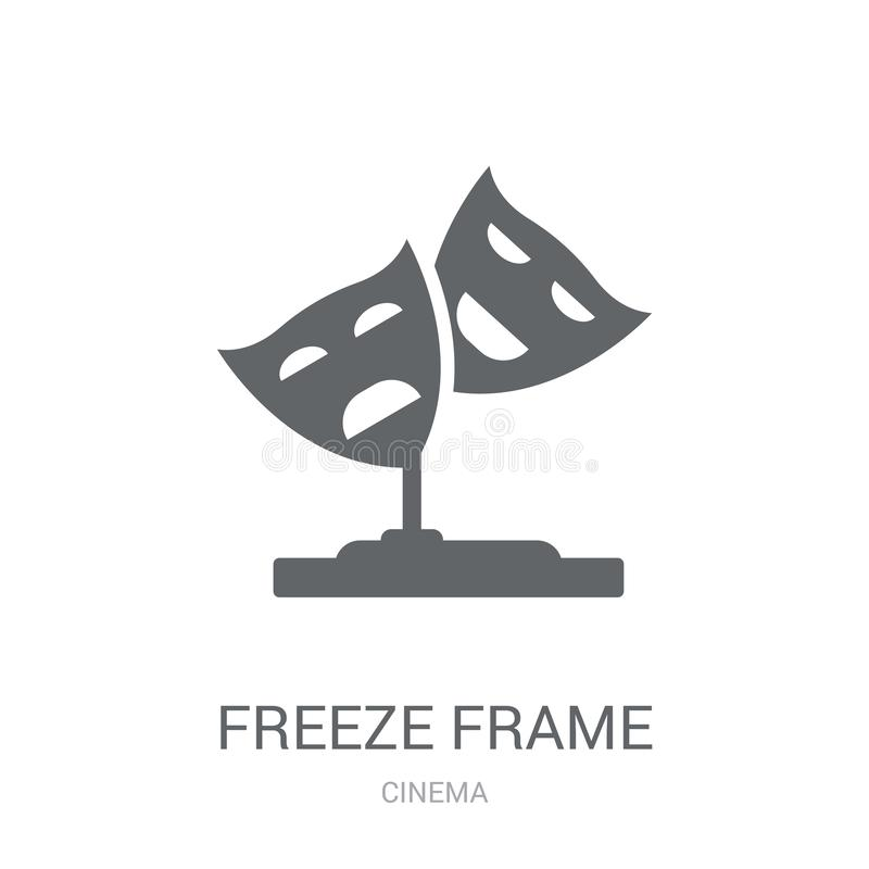 icono de la imagen congelada Concepto de moda del logotipo de la imagen congelada en el CCB blanco libre illustration
