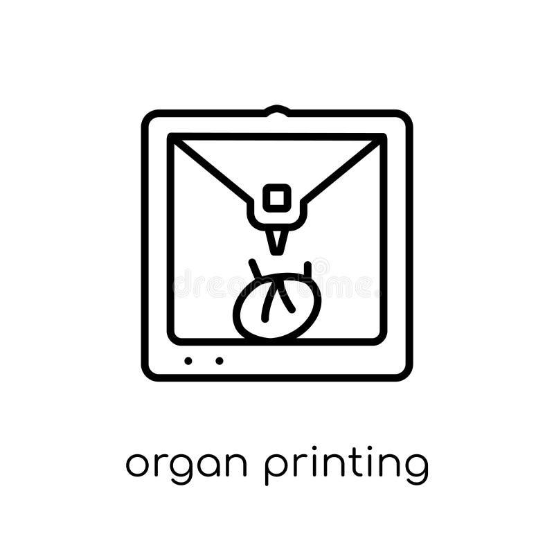 Icono de la impresión del órgano  stock de ilustración