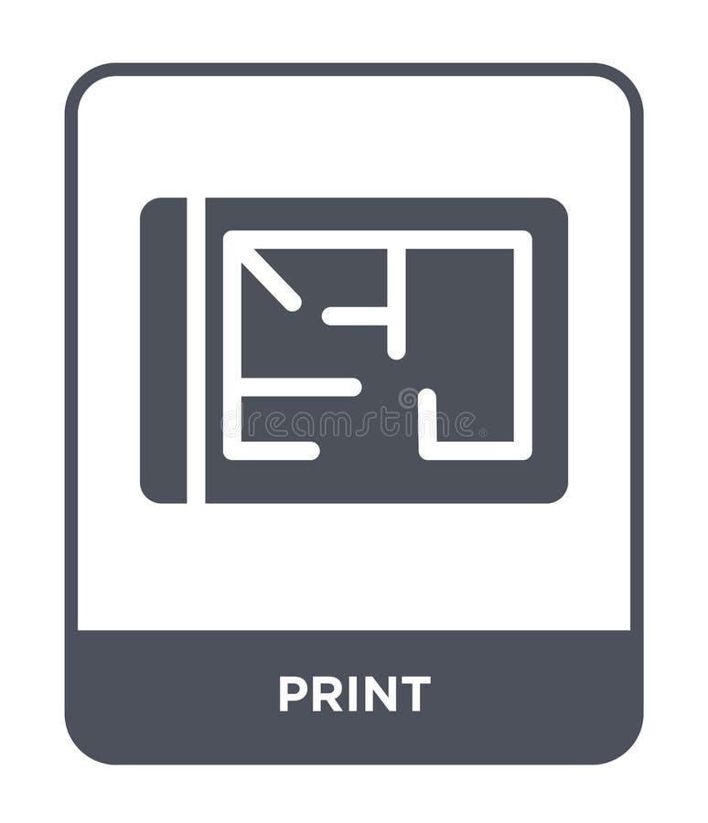 icono de la impresión en estilo de moda del diseño icono de la impresión aislado en el fondo blanco símbolo plano simple y modern libre illustration
