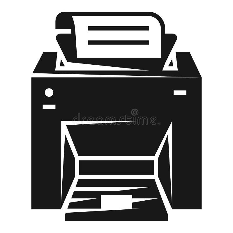 Icono de la impresora laser, estilo simple stock de ilustración