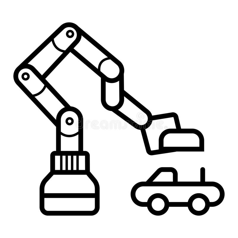 Icono de la industria automovilística, limpio ilustración del vector