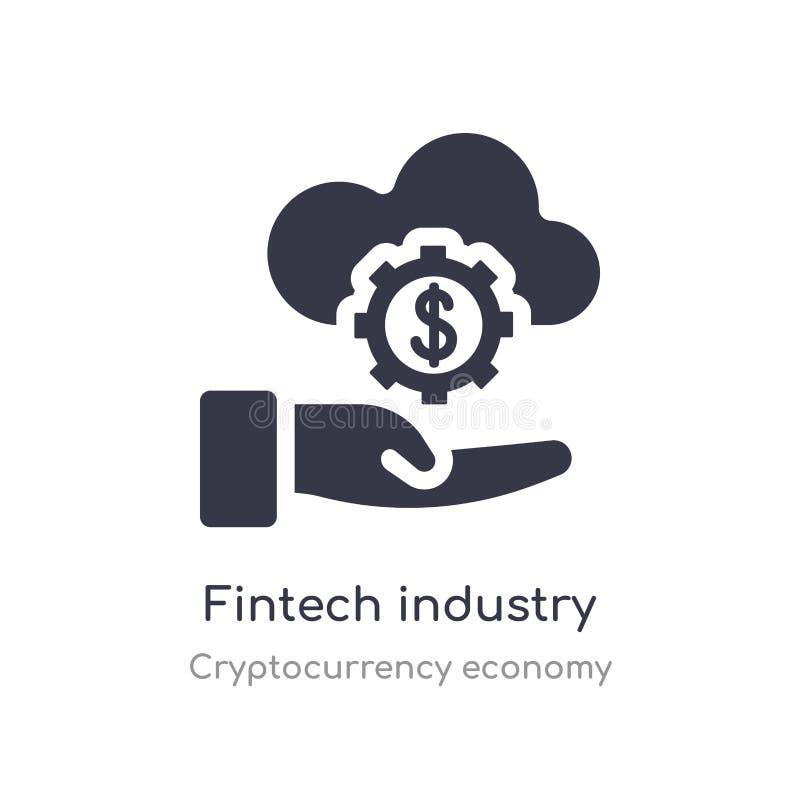 icono de la industria del fintech ejemplo aislado del vector del icono de la industria del fintech de la colección de la economía stock de ilustración