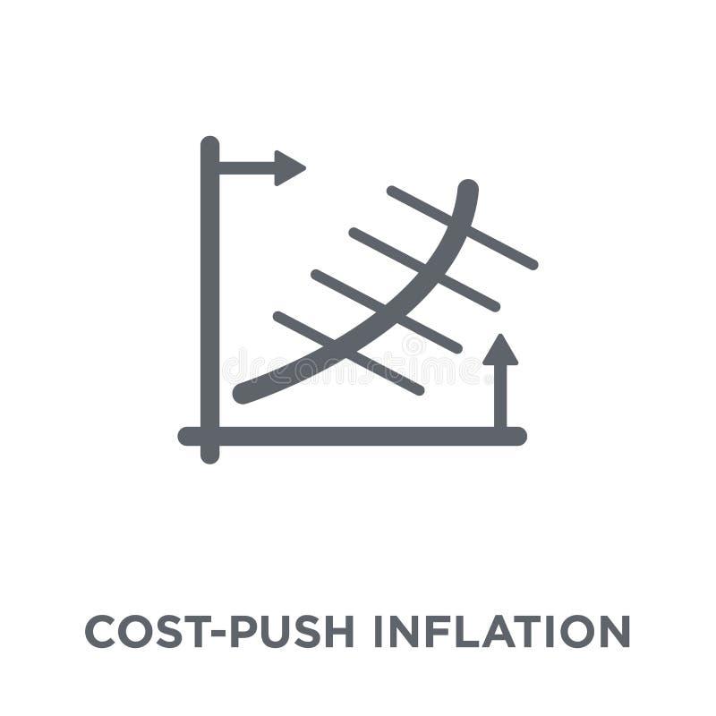 Icono de la inflación de empuje de los costes de la colección de la inflación de empuje de los costes libre illustration
