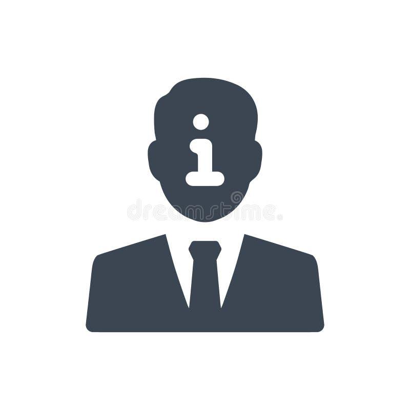 Icono de la información de cuenta stock de ilustración