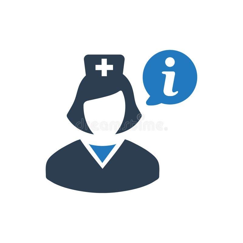 Icono de la información de la atención sanitaria ilustración del vector