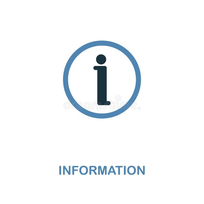 Icono de la información Diseño monocromático del estilo de la colección del icono de la muestra del centro comercial Ui Pictogram stock de ilustración
