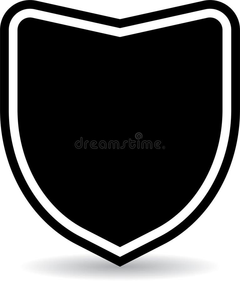 Icono de la insignia del escudo stock de ilustración