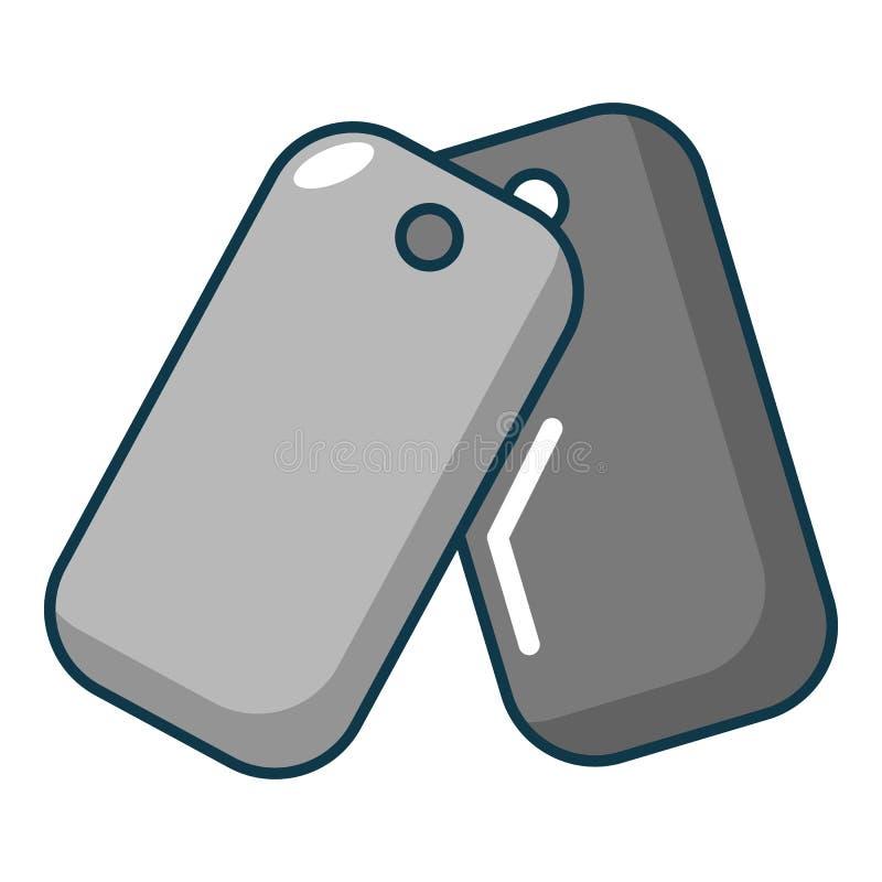 Icono de la insignia de Paintball, estilo de la historieta libre illustration