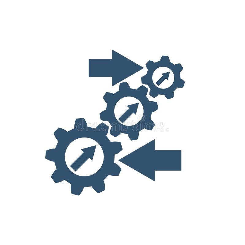 Icono de la integración Vector ilustración del vector