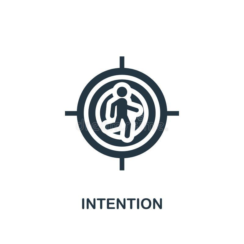 Icono de la intención Diseño creativo del elemento de la colección de los iconos de la productividad Icono perfecto para el diseñ ilustración del vector