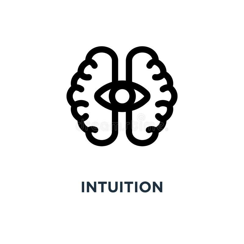 icono de la intuición diseño del símbolo del concepto de la intuición, illustra del vector ilustración del vector